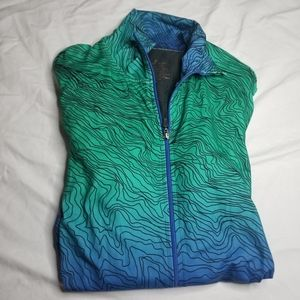 Cuddl Duds Jackets & Coats - Cuddl Duds Blue Ombré Ripple SofTech Zip-Up Jacket